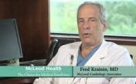 Dr. Fred Krainin explaining the TAVR, or Trans-catheter Aortic Valve Replacement, procedure