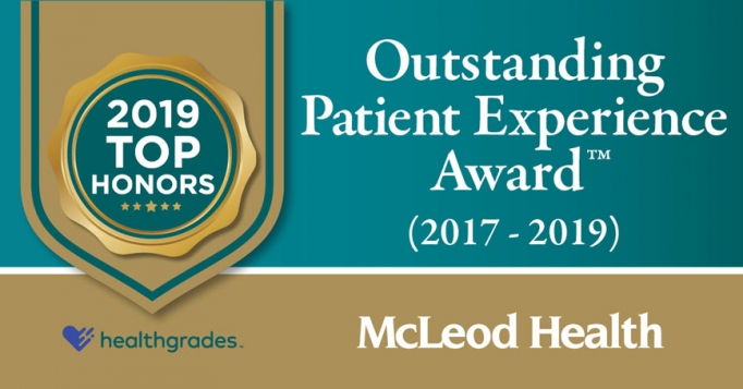 The Outstanding Patient Experience Award was given to McLeod Regional Medical Center by Healthgrades for the past three years