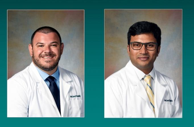 Emergency Medicine Physician Dr. Cooper and Hospitalist Dr. Srinivasa Kamatam join the team at McLeod Regional Medical Center