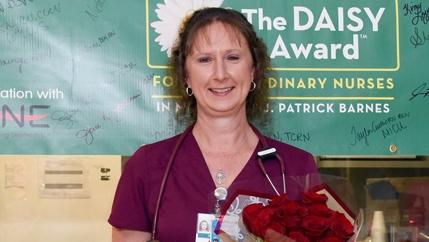 Kim Love, a staff nurse in McLeod's Coronary Care Unit, was named the June DAISY Award Recipient