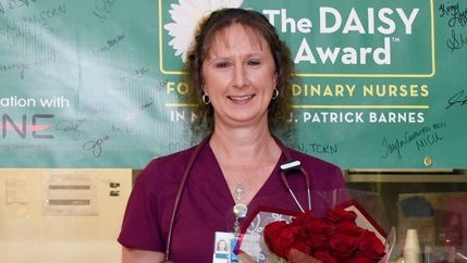 Kim Love, a staff nurse in McLeod's Coronary Care Unit, was named the June DAISY Award Recipient