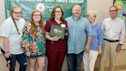 Lisa Pate, a staff nurse in the Outpatient Surgery Department, with McLeod Health's July DAISY Award