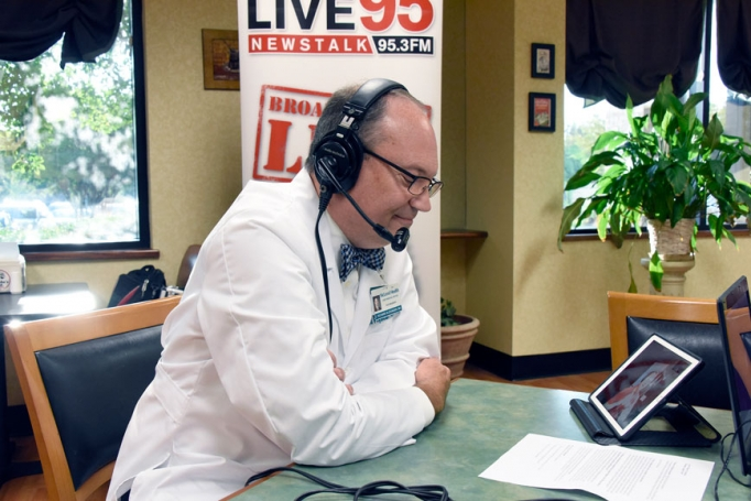 Dr. Richard Alexander speaking on the Wake Up Carolina Live 95 Radio Show about the need for a primary care doctor