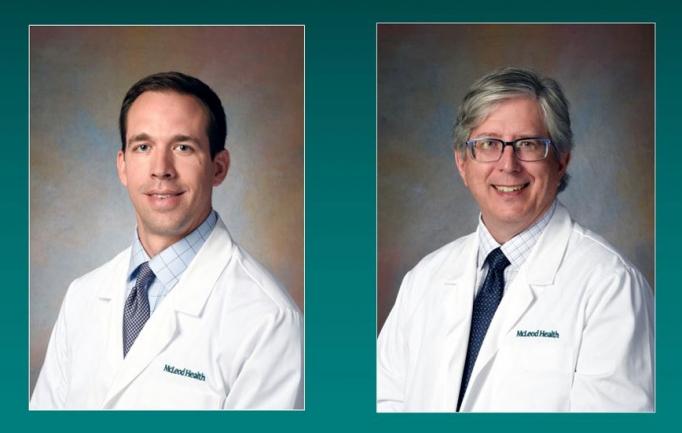Vascular Surgeon Dr. William C. Jackson and Urologist Dr. Ronald W. Glinski join the McLeod Health medical staff
